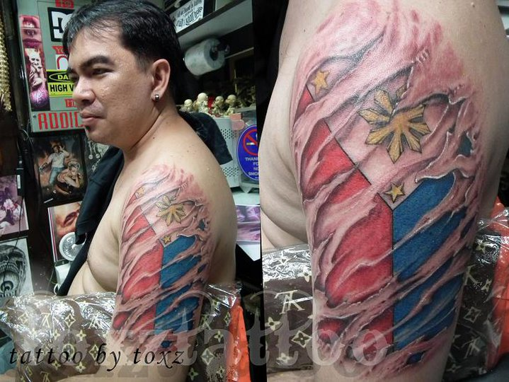Philippine Flag Tattoo Designs