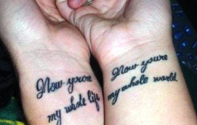Quote Couple Tattoo Design