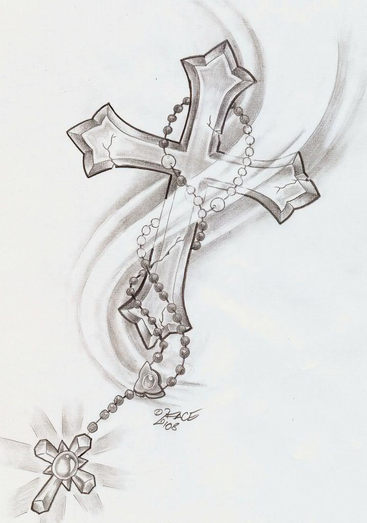 Cross With Rosary Beads Tattoo Images amp Pictures Becuo