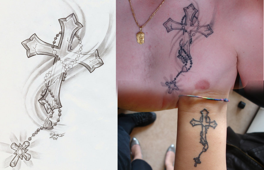 Rosary Cross Tattoo Designs