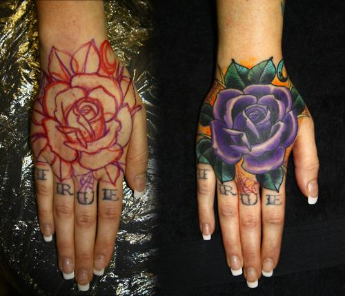 Rose Tattoo Design For Couple