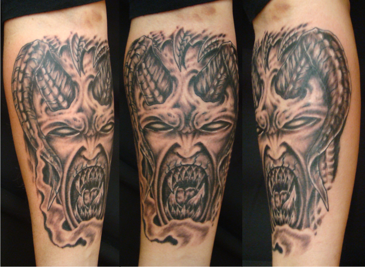 Scary Demon Tattoo Designs