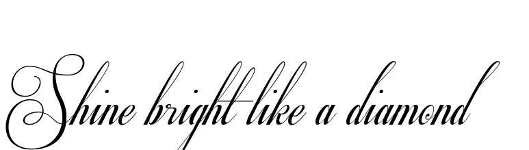 Shine Bright Like A Diamond Tattoo Design