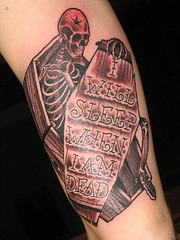 Skeleton Coffin Tattoo
