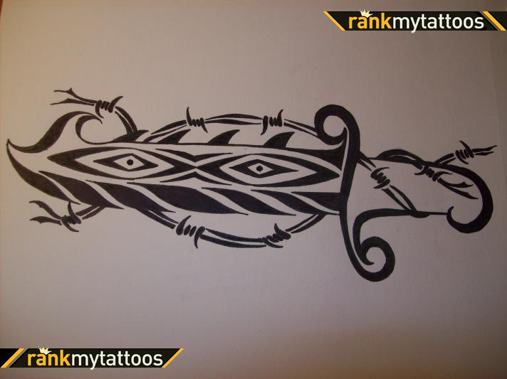 Tribal Dagger Tattoo Art