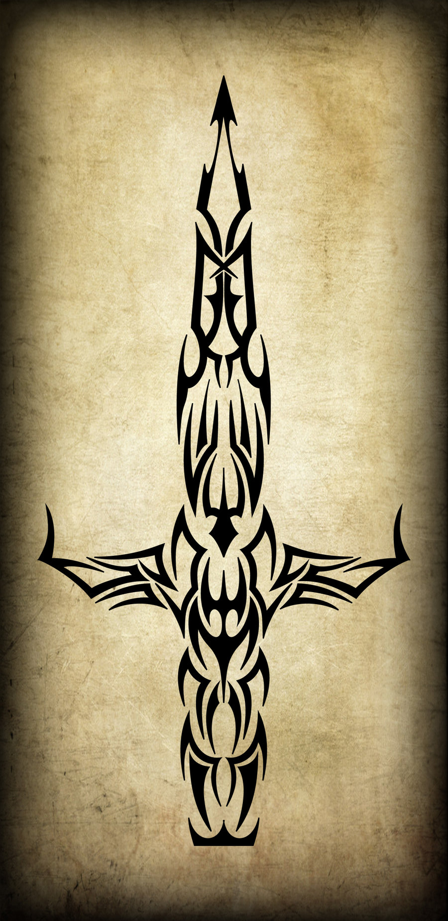 Tribal Dagger Tattoo Poster