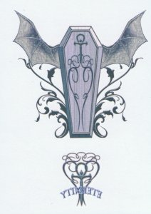 Vampire Coffin Tattoo Design