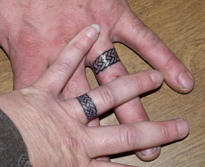 Wedding Ring Tattoo For Couple