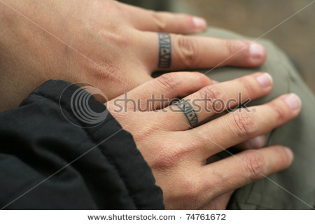 Wedding Ring Tattoo For Couples