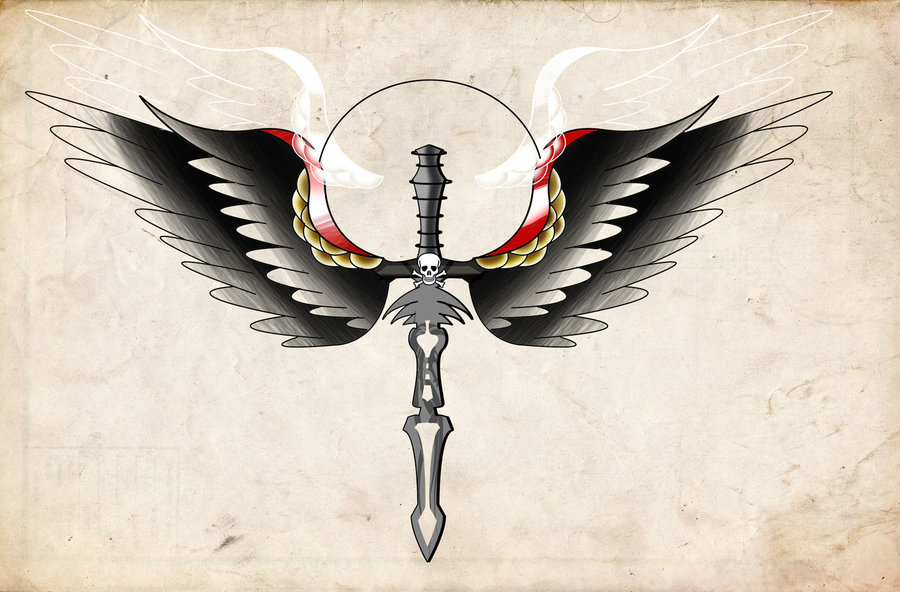 Winged Dagger Tattoo Painting