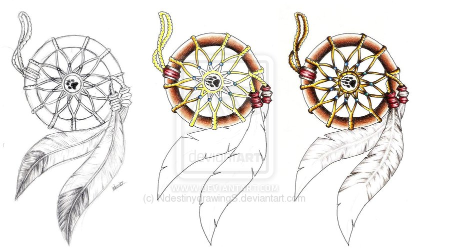 3 Dream Catcher Tattoo Designs