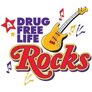 A Drug Free Life Rocks Tattoo Design