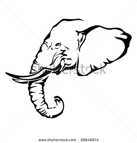 African Elephant Tattoo Sample