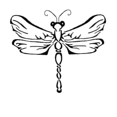 Again Dragonfly Tattoo Sample