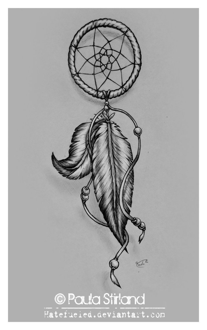 Again Dream Catcher Tattoo Design