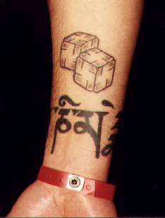 Amazing Dice Tattoo On Lower Arm