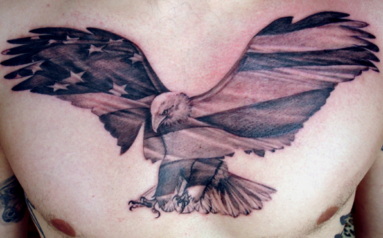 American Eagle Tattoo For Chest