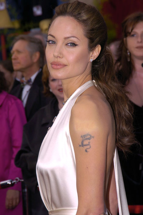 Angelina Jolie Small Dragon Tattoo