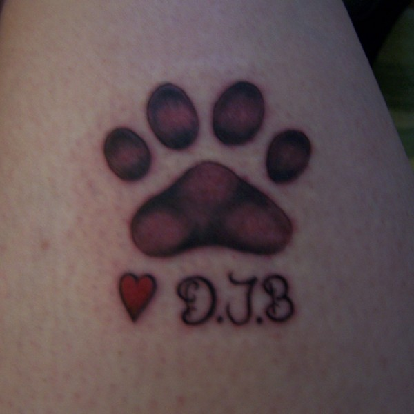 Another Dog Paw Print Tattoo