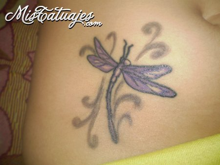 Awesome Dragonfly Tattoo