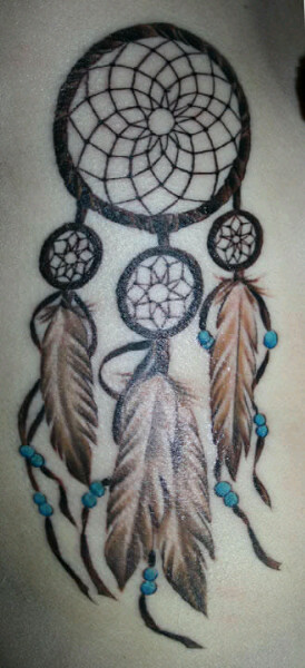 Awesome Feather Dream Catcher Tattoo