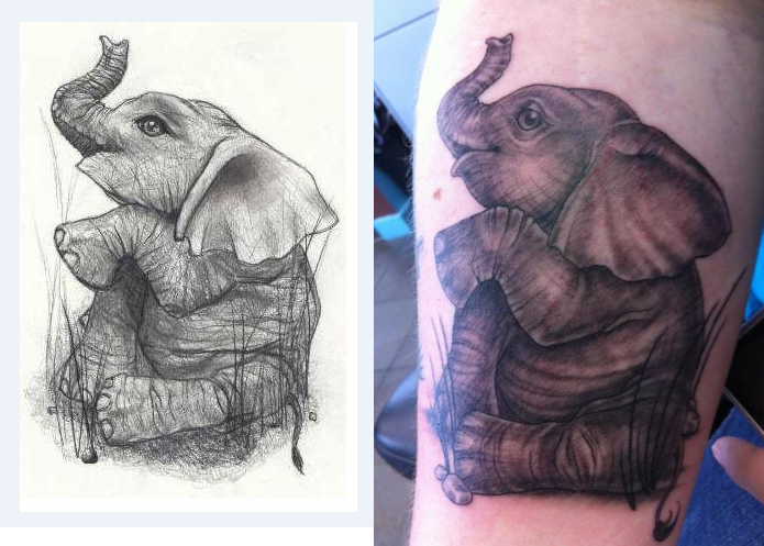 Baby Elephant Tattoo Photos