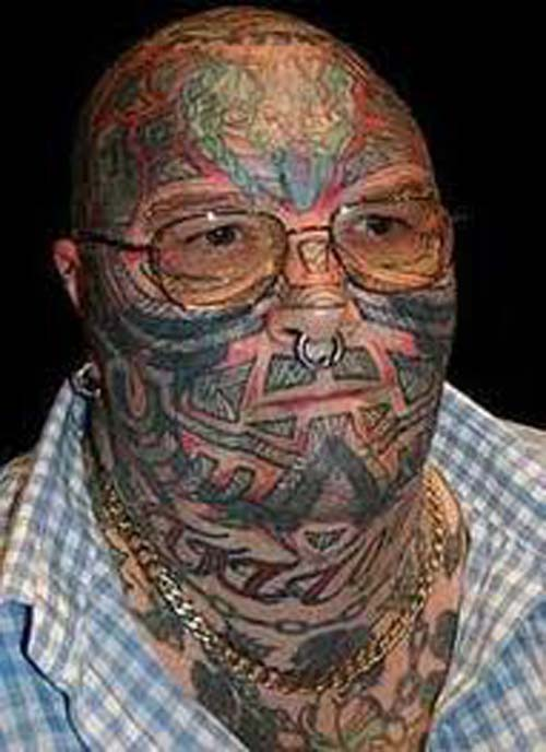Bad Face Tattoo Designs
