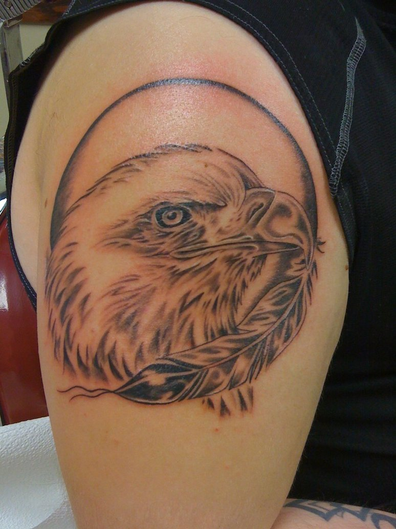 Bald Eagle Tattoo On Shoulder