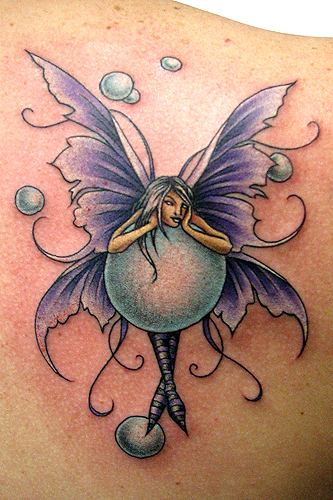 Beautiful Fairy Tattoo Design