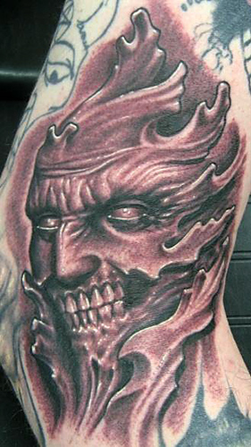 Best Evil Face Tattoo