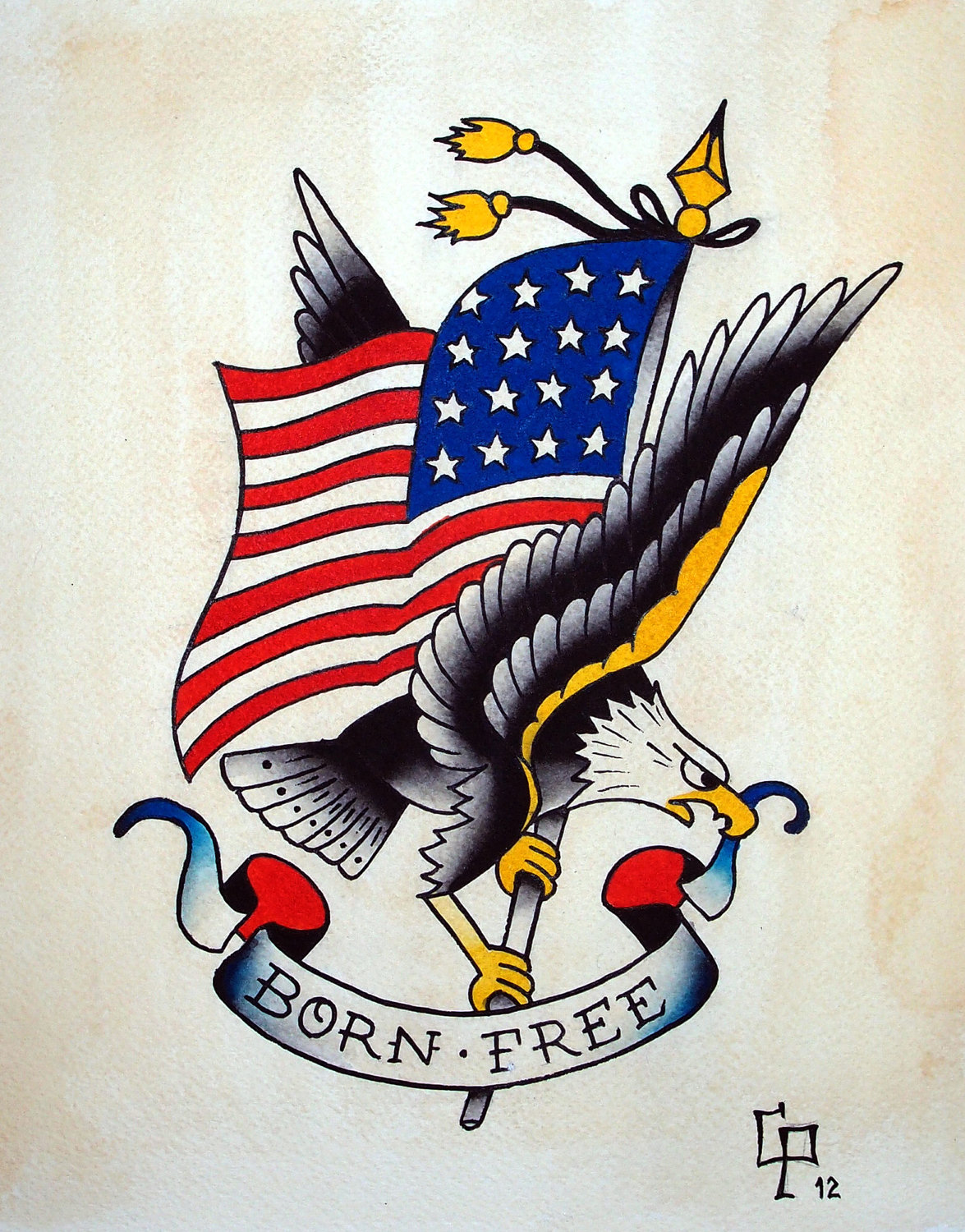 Traditional American Eagle Tattoo Designs eagle tattoos, designs and ...