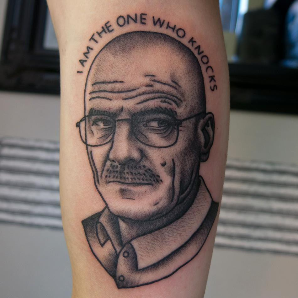 Breaking Bad Face Tattoo Design