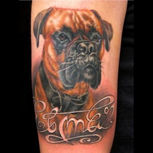 Brilliant Dog Tattoo Design
