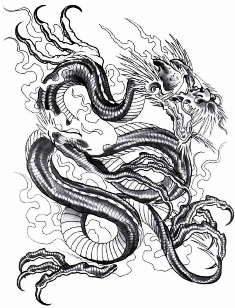 Brilliant Dragon Tattoo Design