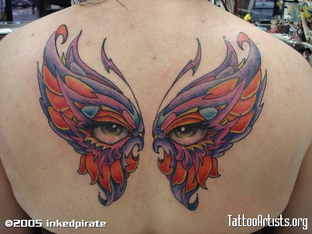 Butterfly Eyes Tattoo Design
