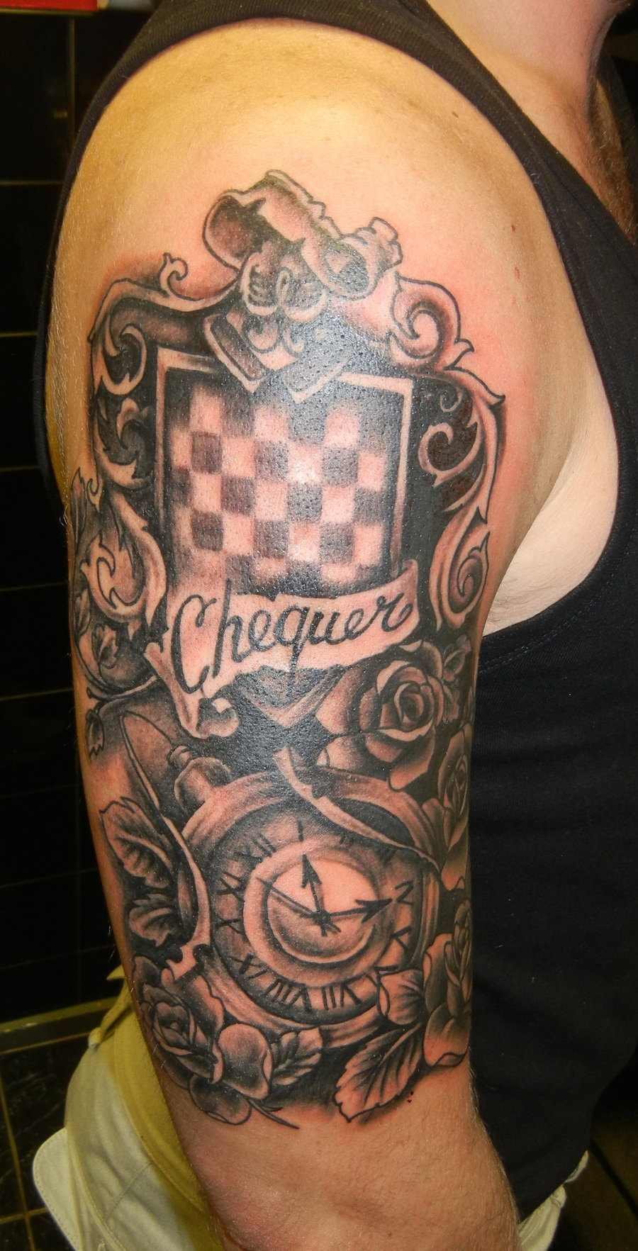 Coat Of Arms Tattoo On Arm