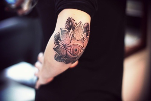 Cool Elbow Tattoo Design