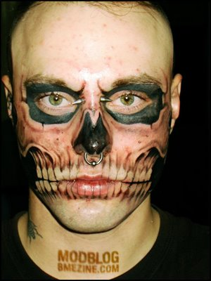Crazy Face Tattoo Design