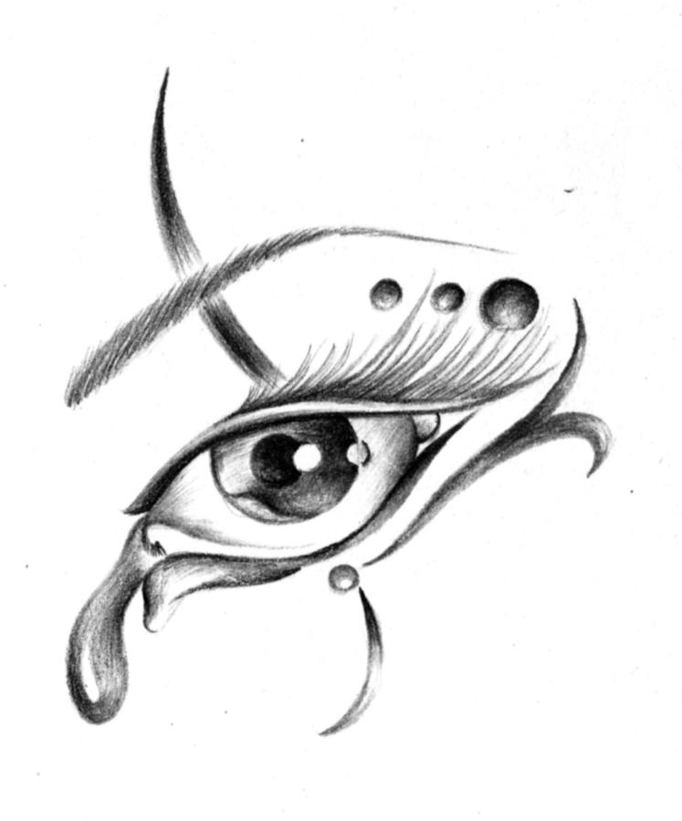 Crying Eye Tattoo Design