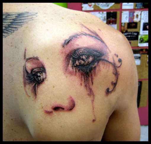 Crying Eye Tattoo Pictures On Back