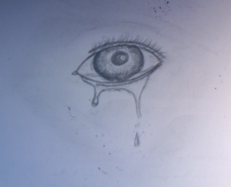 Crying Eye Tattoo Sketch