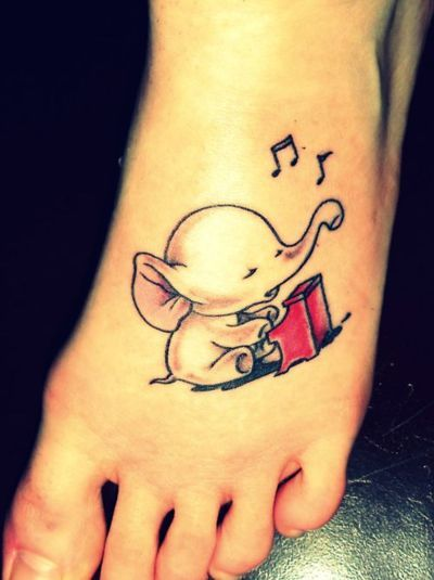 Music Notes Tattoos on Foot Music Notes Tattoo on Foot
