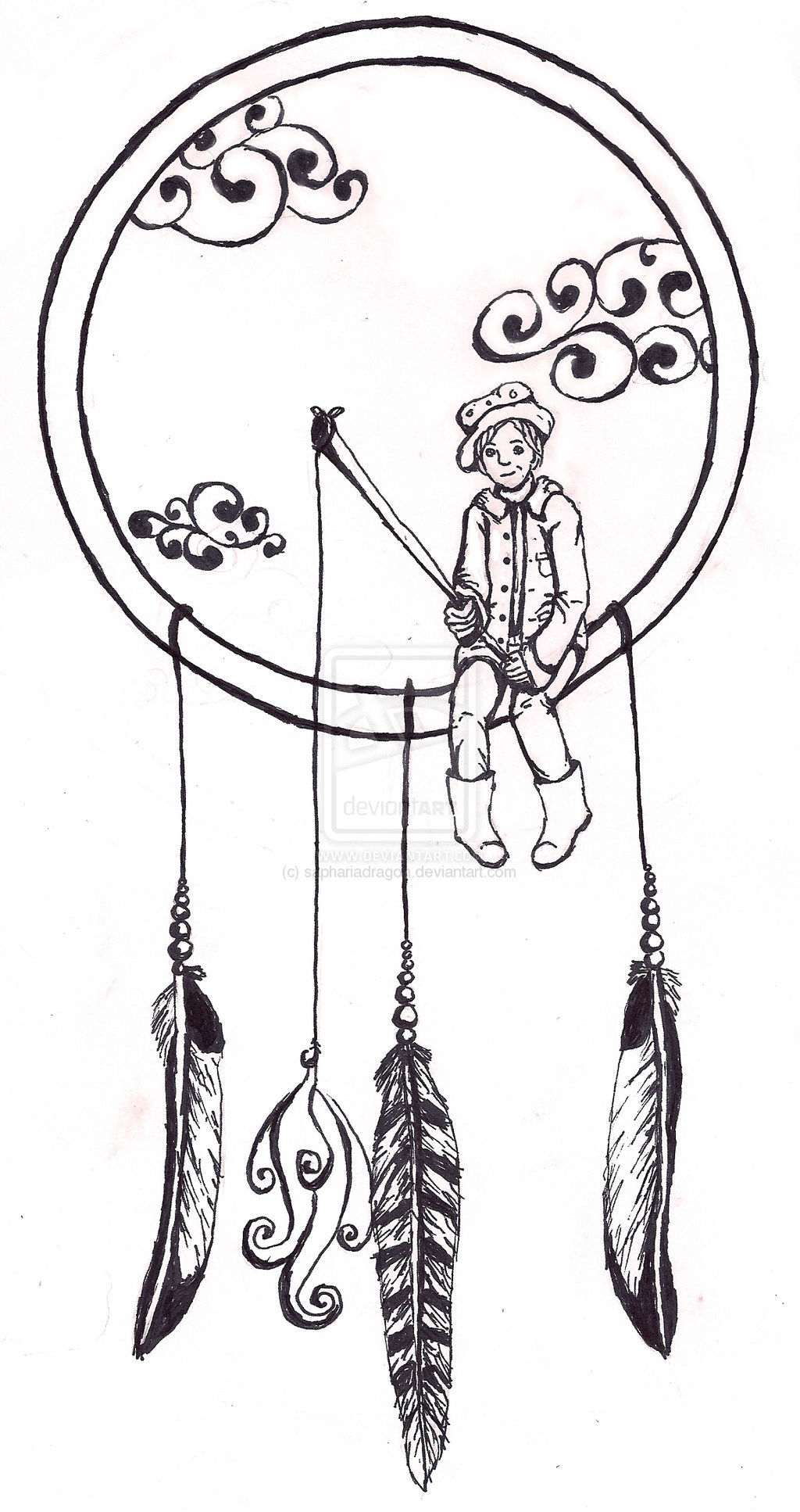 Design Of Dream Catcher Tattoo