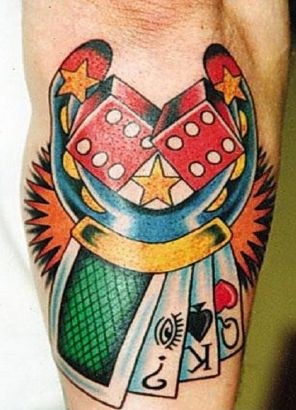 Dice Horseshoe n Cards Tattoo Picture