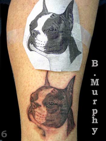 Dog Face Portrait Tattoo Design