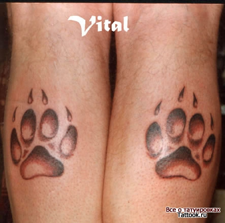 Dog Paw Prints Tattoo Designs