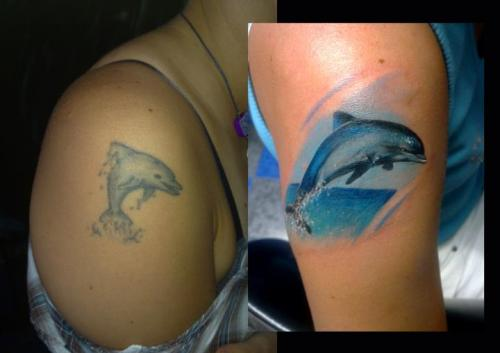 Dolphin Shoulder Tattoo Designs