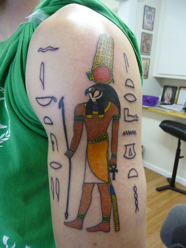 Egyptian God Of War Tattoo Design