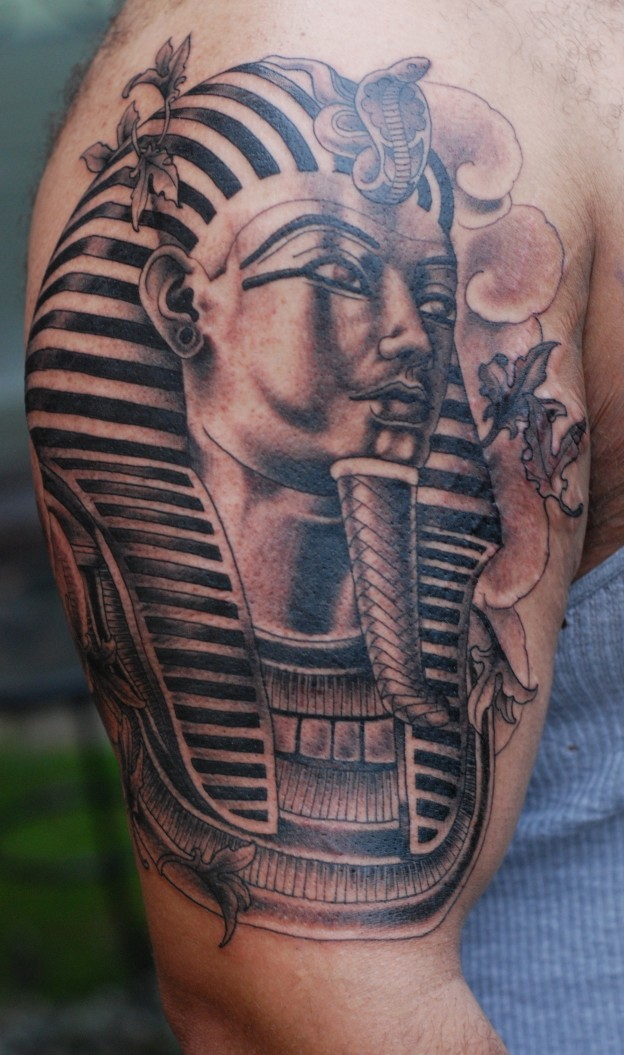 Egyptian Sphinx Tattoo On Shoulder