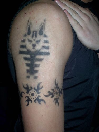 Egyptian Tattoo On Biceps